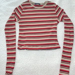 Brandy Melville - red, tan and black long sleeve